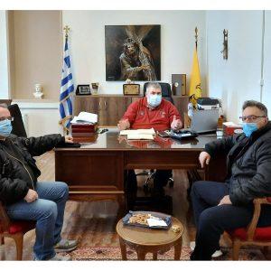"""Συνάντηση του Δημάρχου Εορδαίας με τους Προέδρους του Εργατικού Κέντρου και του Εμπορικού Συλλόγου Πτολεμαΐδας: """"μφωνία για κατάρτιση κοινού πλάνου δράσεων, μέσω διαφόρων πρωτοβουλιών των τριών φορέων στα θέματα της απολιγνιτοποίησης"""""""