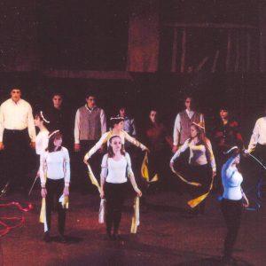 """Από την παράσταση: """"Ελεύθεροι πολιορκημένοι"""". Δ. Σολωμός. 2008  (της  Γιάννας Γκουζιαμάνη)"""