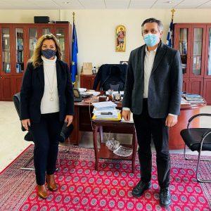 Στην έδρα της Περιφέρειας Δυτικής Μακεδονίας η Επικεφαλής του Γραφείου Μακεδονίας του Πρωθυπουργού Μαρία Αντωνίου – Συνάντηση εργασίας με τον Περιφερειάρχη Γιώργο Κασαπίδη