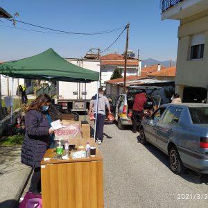 Με επιτυχία πραγματοποιήθηκε η 7η διανομή τροφίμων στα Σέρβια στο πλαίσιο του προγράμματος ΤΕΒΑ