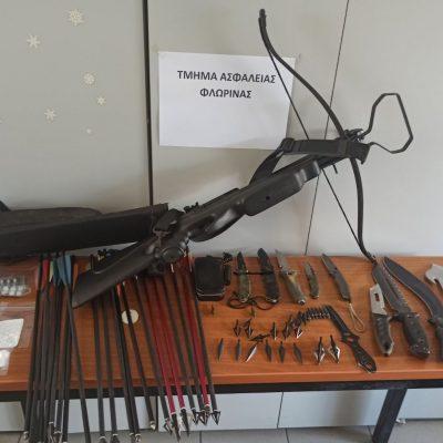 Συνελήφθη 42χρονος, από αστυνομικούς του Τμήματος Ασφάλειας Φλώρινας, σε περιοχή της Ημαθίας για παράβαση της νομοθεσίας περί όπλων και κατοχή ναρκωτικών ουσιών