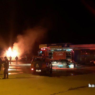 kozan.gr Φωτιά σε υπαίθριο χώρο επιχείρησης ΒουλκανιζατέρΕλαστικών, στο 1ο χλμ Πτολεμαϊδας – Κοζάνης  (Φωτογραφίες & Βίντεο)