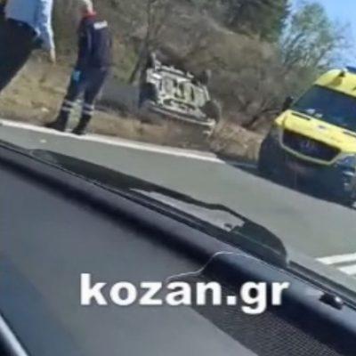 kozan.gr: Τροχαίο ατύχημα, με εκτροπή & ανατροπή οχήματος, στις στροφές προς Βατερό Κοζάνης (Φωτογραφιες & Βίντεο)