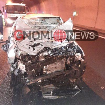 Τροχαίο ατύχημα μέσα σε τούνελ στην Εγνατία οδό Βέροιας – Κοζάνης (Φωτογραφίες)