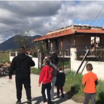 Μεγάλη ανταπόκριση του κόσμου για την πολύτεκνη οικογένεια από το Φανό Αμυνταίου που κάηκε το σπίτι της (Bίντεο)
