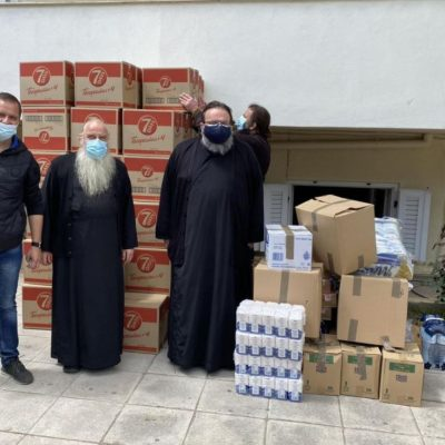 Iερά Μητρόπολη Λαρίσης & Τυρνάβου: Σημαντική βοήθεια της Ιεράς Μητροπόλεως Σερβίων και Κοζάνης σε τρόφιμα και είδη πρώτης ανάγκης για την ενίσχυση των σεισμοπλήκτων