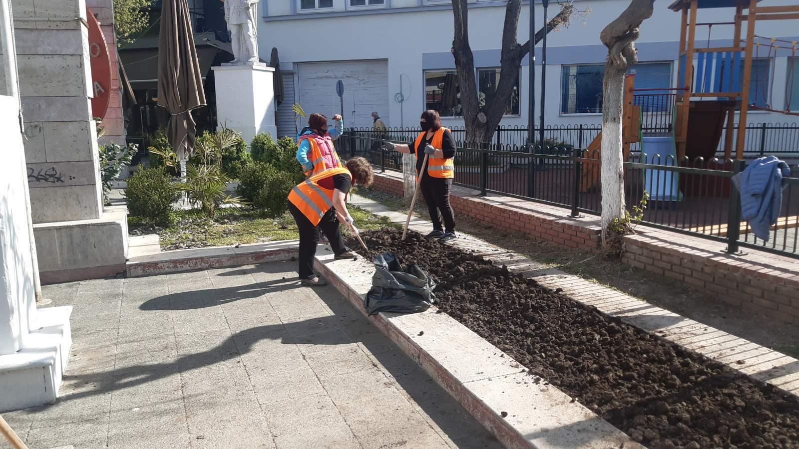 kozan.gr: Εργασίες συντήρησης και καλλωπισμού σε κεντρικούς οδούς της πόλης της Πτολεμαΐδας (Φωτογραφίες & Βίντεο)