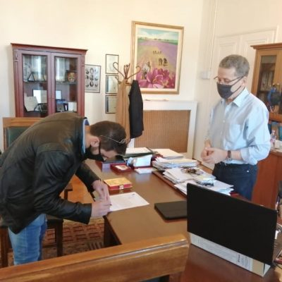 Oρκωμοσία για το νέο σύμβουλο της Κοινότητας Ξηρολίμνης, Ζερβανταρίδη Ευστράτιο