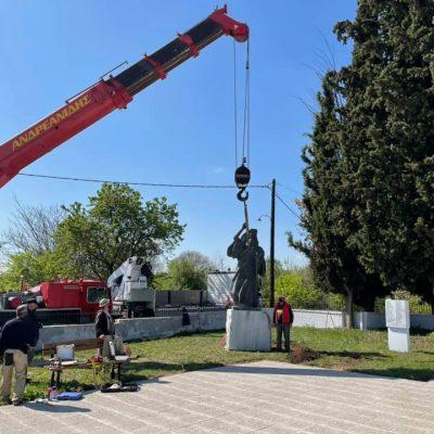 Τοποθετήθηκε στο εξωραϊσμένο μνημείο Εθνικής Αντίστασης στη θέση Νταμάρια ο ανδριάντας του Μητροπολίτη Ιωακείμ (Φωτογραφίες)