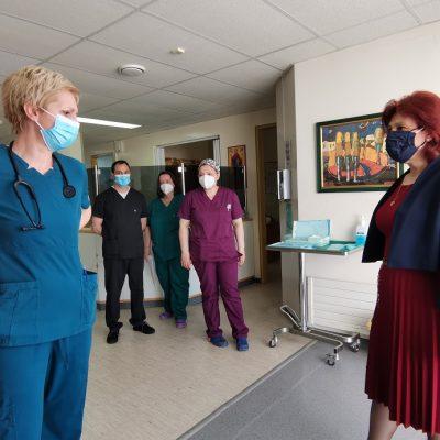 Η Παρασκευή Βρυζίδου στα Εμβολιαστικά Κέντρα της ΠΕ Κοζάνης