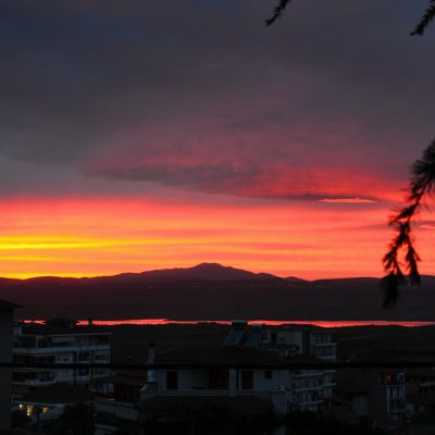 Το αποψινό ηλιοβασίλεμα, όπως το κατέγραψε, ο συμπατριώτης μας, από τα Σέρβια, Σάββας Φουντούλης