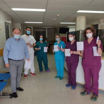 Ενημερωτικά έντυπα και ατομικά αντισηπτικά μοιράστηκαν στο προσωπικό του Μποδοσάκειο Νοσοκομείου στο πλαίσιο της σημερινής 5/5 Παγκόσμιας ημέρας υγιεινής των χεριών