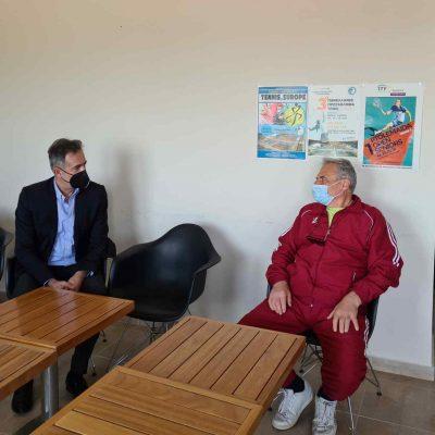 Ο Βουλευτής Π.Ε. Κοζάνης Στάθης Κωνσταντινίδης επισκέφθηκε τον Όμιλο Αντισφαίρισης Πτολεμαΐδας