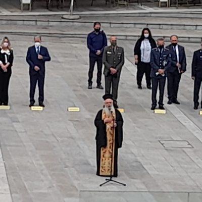 Kozan.gr: Η σημερινή επιμνημόσυνη δέηση στην κεντρική πλατεία Κοζάνης & κατάθεση στεφάνων, με αφορμή τον εορτασμό των Εθνικών Αγώνων και της Εθνικής Αντίστασης κατά του ναζισμού και του φασισμού,  στο πλαίσιο της 9ης Μαΐου, ημέρα λήξης του Δευτέρου Παγκοσμίου Πολέμου (Φωτογραφίες)