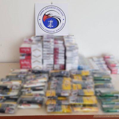 Πτολεμαΐδα: Συνολικά βρέθηκαν και κατασχέθηκαν -391- πακέτα αφορολόγητων τσιγάρων και ποσότητα αδασμολόγητου καπνού, βάρους -3- κιλών και -750- γραμμαρίων