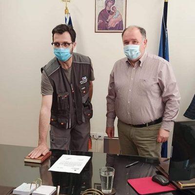Ορκίστηκαν σήμερα Τρίτη 11/5 δυο μόνιμοι υπάλληλοι της τεχνικής υπηρεσίας του Μποδοσάκειου με αντίστοιχες ειδικότητες του ηλεκτρολόγου και του υδραυλικού.