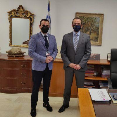 Συνάντηση στην Αθήνα Δημάρχου Καστοριάς, Γιάννη Κορεντσίδη  με Διοικητή Υ.Π.Α. για Υδατοδρόμιο και Αεροδρόμιο Καστοριάς