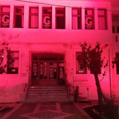 kozan.gr: Σε κόκκινο χρώμα, το κτήριο του Δημαρχείου Εορδαίας, ως συμβολική ένδειξη  τιμής στην ημέρα Μνήμης της Γενοκτονίας των Ελλήνων του Πόντου (Βίντεο)