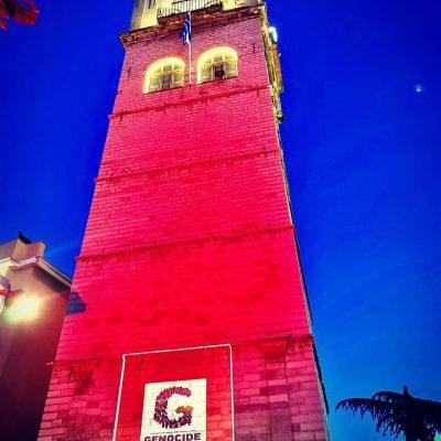 Φωταγωγήθηκε με κόκκινο χρώμα το Δημαρχείο Κοζάνης το βράδυ της Τετάρτης 19 Μαΐου, για την επέτειο των 102 ετών από την Γενοκτονία των Ποντίων (Φωτογραφίες & Βίντεο)