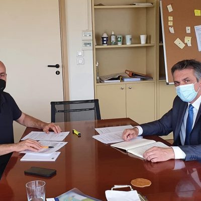 "Kασαπίδης για συνάντηση με Αμυρά: ""Η ανάπτυξη του οικοτουρισμού, της περιβαλλοντικής εκπαίδευσης και των τεχνολογιών περιβάλλοντος συμφωνήσαμε να είναι κοινές προτεραιότητες στην Περιφέρειά μας"""
