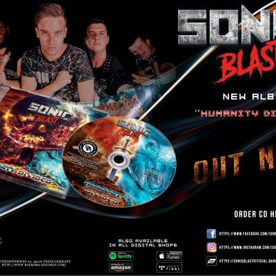"""Κυκλοφόρησε, σήμερα 28 Μαΐου, το πρώτο άλμπουμ με τίτλο """"Humanity Divided"""" από το συγκρότημα """"Sonic Blast"""", από την Κοζάνη"""