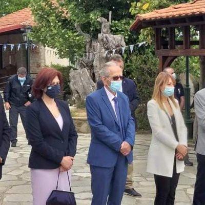 Η Π. Βρυζίδου στη Δαμασκηνιά Βοΐου για το ετήσιο μνημόσυνο υπέρ των πεσόντων Μακεδονομάχων στη μάχη της Οσνίτσανης
