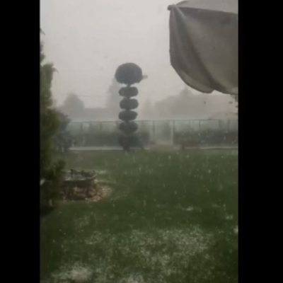 "kozan.gr: Δείτε το χαλάζι που ""έριξε"" στην Ξηρολίμνη Κοζάνης και την ευρύτερη περιοχή (Βίντεο)"
