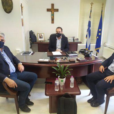 Συνάντηση του Δημάρχου Φλώρινας Β. Γιαννάκη με τον Γ.Γ. της ΚΕΔΕ και Πρόεδρο της Βιώσιμης Πόλης Δ. Καφαντάρη