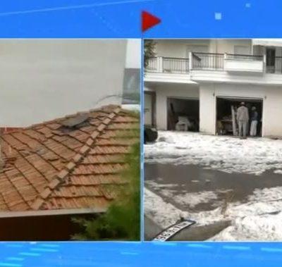 kozan.gr: Ώρα 15.30: Η ζωντανή σύνδεση της ΕΡΤ1 με την Κοζάνη με εικόνες μετά την πρωτοφανή χαλαζόπτωση (Βίντεο)