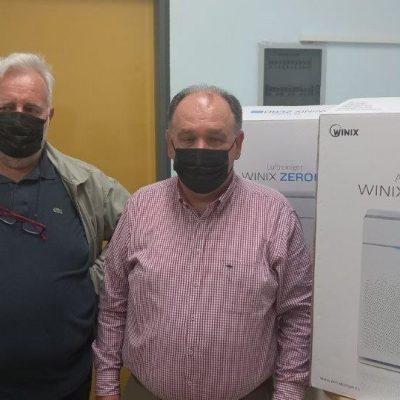 Η Διοίκηση του Γενικού Νοσοκομείου Πτολεμαΐδας «Μποδοσάκειο», εκφράζει θερμές ευχαριστίες στον Oδοντιατρικό Σύλλογο Κοζάνης για την πρωτοβουλία τους να δωρίσουν δύο καθαριστές αέρα
