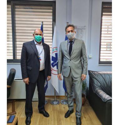 Συνάντηση του Βουλευτή Π.Ε. Κοζάνης Στάθη Κωνσταντινίδη με τον Πρόεδρο του ΕΚΑΒ κ. Παπαευσταθίου