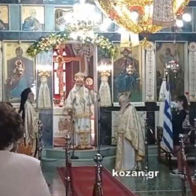 "kozan.gr: Στην αξία της Σημαίας και τους αγώνες που δόθηκαν για να είμαστε ελεύθεροι, αναφέρθηκε στο σημερινό κήρυγμά του, από τον Ιερό Ναό Αγ. Τριάδος Δρεπάνου, ο Μητροπολίτης Σερβίων & Κοζάνης Παύλος, σημειώνοντας ωστόσο πως ουσιαστικά δεν είμαστε ελεύθεροι αλλά ""δούλοι στο εγώ μας"" και στα ""πάθη μας"" (Βίντεο)"