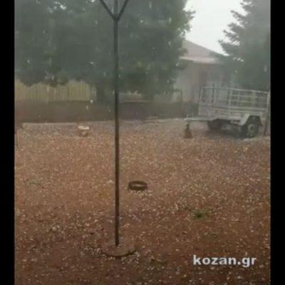 kozan.gr: Απίστευτη χαλαζόπτωση στη Μεταμόρφωση Κοζάνης και την ευρύτερη περιοχή  (Βίντεο)