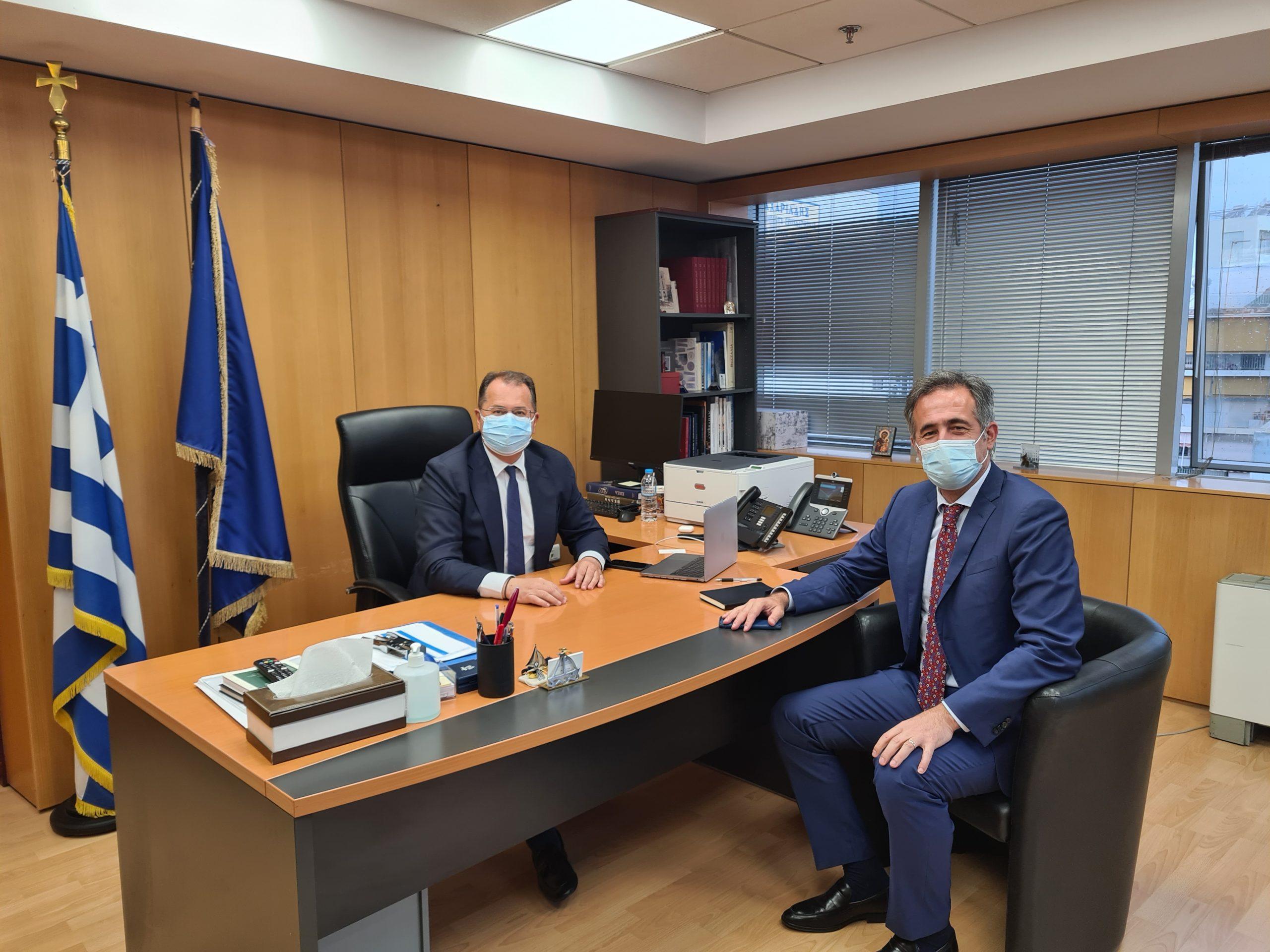 Συνάντηση του Βουλευτή ΠΕ Κοζάνης Στάθη Κωνσταντινίδη με τον Υφυπουργό Ψηφιακής Διακυβέρνησης Γιώργο Στύλιο