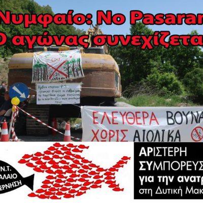 «Αριστερή Συμπόρευση για την ΑΝΑΤΡΟΠΗ στη Δυτική Μακεδονία»: Με ΜΑΤ και καταστολή τοποθετούν αιολικά καταστρέφοντας το Νυμφαίο