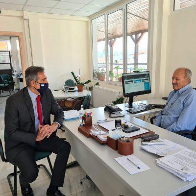 Επίσκεψη του Βουλευτή Π.Ε Κοζάνης Στάθη Κωνσταντινίδη στον ΟΑΕΔ Κοζάνης