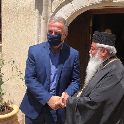 kozan.gr: Ώρα 13:30: Έφτασε στην Κοζάνη ο Υφυπουργός Εσωτερικών (Μακεδονίας και Θράκης) Σταύρος Καλαφάτης – Πρώτη συνάντηση, στο Επισκοπείο, με τον Μητροπολίτη Σερβίων & Κοζάνης κ.κ. Παύλο (Βίντεο & Φωτογραφίες)