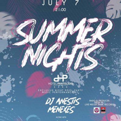 Καλοκαιρινό πάρτι, με ωραία μουσική, στην πισίνα, του ξενοδοχείου Παντελίδης, την Τετάρτη 7 Ιουλίου