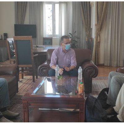 Συνάντηση του δημάρχου Κοζάνης Λάζαρου Μαλούτα με εκπροσώπους του κόμματος των Πράσινων