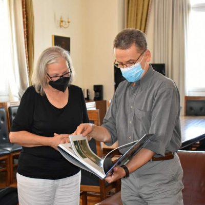 Συνάντηση του δημάρχου Κοζάνης Λάζαρου Μαλούτα με την πρέσβη της Αυστρίας Hermine Poppeller