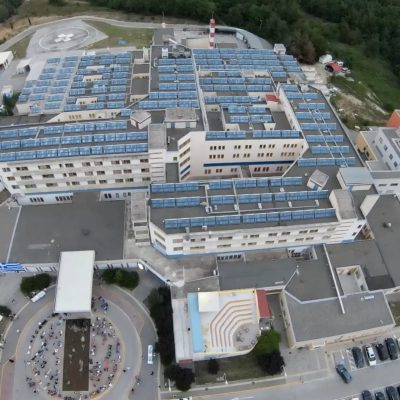 H εντυπωσιακή φωτογραφία από το Μποδοσάκειο νοσοκομείο Πτολεμαίδας, που δημοσίευσε ο διοικητής του Σ. Παπασωτηρίου