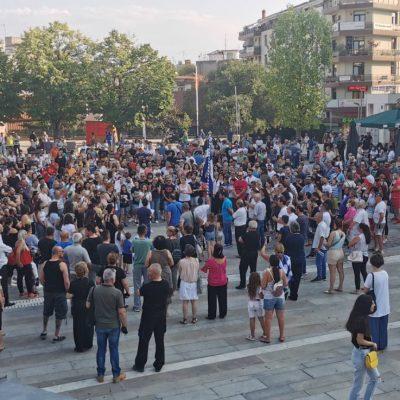 kozan.gr: Kοζάνη: Συγκέντρωση διαμαρτυρίας κατά του υποχρεωτικού εμβολιασμού – Συνθήματα κατά του διχασμού και κατά του Πρωθυπουργού Κ. Μητσοτάκη(Βίντεο & Φωτογραφίες)