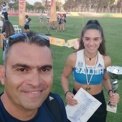 """kozan.gr: """"Το κερασάκι στην τούρτα"""" για την 17χρονη αθλήτρια Χριστίνα Ευκολίδου, με καταγωγή από το Βατερό Κοζάνης  – Xρυσό μετάλλιο στους αγώνες της Κύπρου, στο αγώνισμα του επτάθλου"""