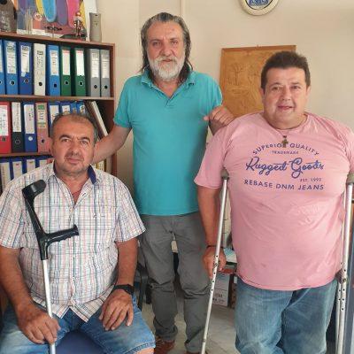Συνάντηση του Συλλόγου Ατόμων με Αναπηρία Π.Ε. Κοζάνης με την Δημοτική αρχή του Δήμου Εορδαίας για την τήρηση του κανονισμού των κοινόχρηστων χώρων