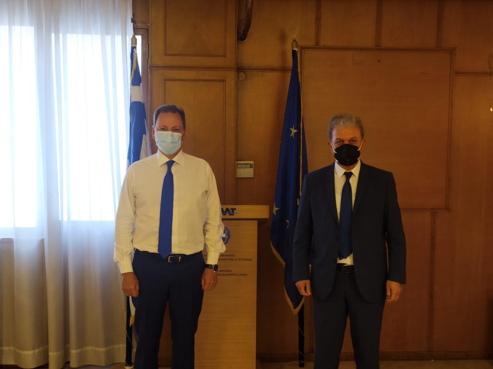 Συνάντηση του Βουλευτή Ν. Κοζάνης κ. Γιώργου Αμανατίδη με τον Υπουργό Αγροτικής Ανάπτυξης και Τροφίμων κ. Σπήλιο Λιβανό – Ποια θέματα, που αφορούν την Π.Ε. Κοζάνης, συζητήθηκαν