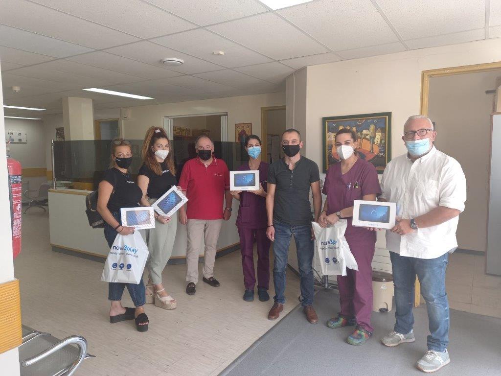 Ευχαριστήριο του Γενικού Νοσοκομείου Πτολεμαΐδας «Μποδοσάκειο» για την δωρεά πέντε (5) tablet