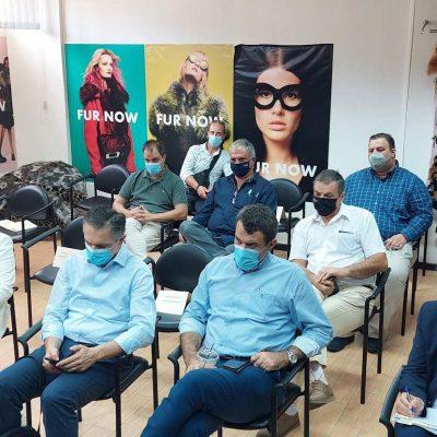 Ευρεία σύσκεψη, πραγματοποιήθηκε την Παρασκευή 27/8, στα γραφεία της Ελληνικής Ομοσπονδίας Γούνας, για την αντιμετώπιση των σοβαρών ζητημάτων που απασχολούν τον κλάδο
