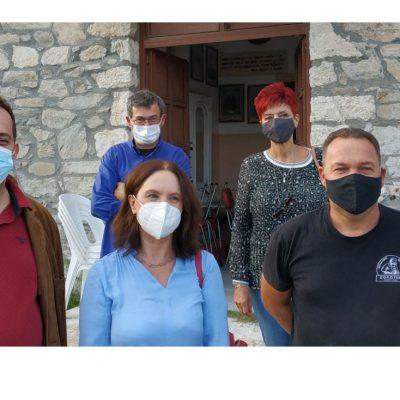 Καλλιόπη Βέττα: Επίσκεψη στα χωριάΔροσερό, Γαλάτεια, Ολυμπιάδα, Ερμακιά, Άγιο Χριστόφορο και Περδίκκα του Δήμου Εορδαίας