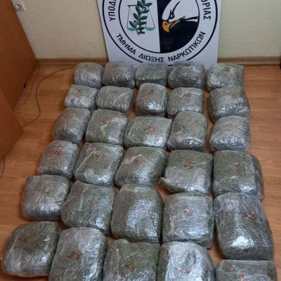 Συνελήφθησαν δύο άτομα στην Καστοριά για διακίνηση ακατέργαστης κάνναβης, βάρους 31  κιλών και  300 γραμμαρίων (Φωτογραφίες)