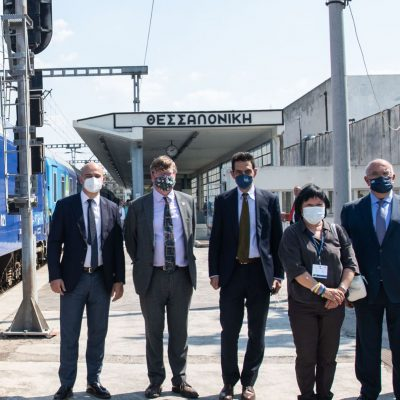 Χαιρετισμός του Υφυπουργού Υποδομών και Μεταφορών κ. Μιχάλη Παπαδόπουλου κατά την υποδοχή της αμαξοστοιχίας «Connecting Europe Express» στον σιδηροδρομικό σταθμό Θεσσαλονίκης